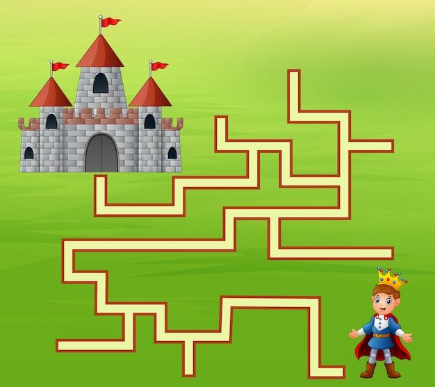 De prins vindt de weg naar het kasteel