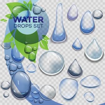De regendalingen van het water of stoomdouche die op transparante achtergrond worden geïsoleerd.