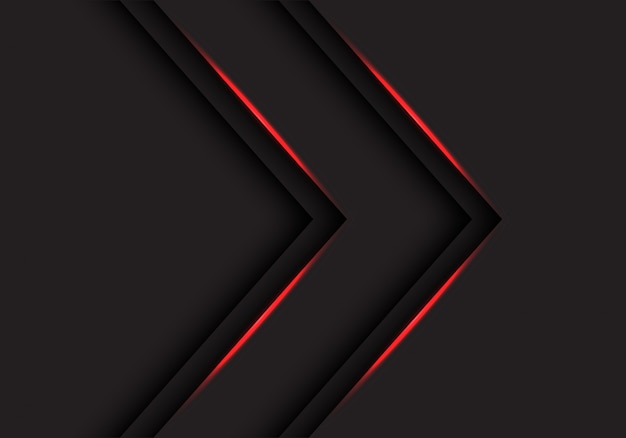 De richting van rood lichtpijlen op zwarte achtergrond.