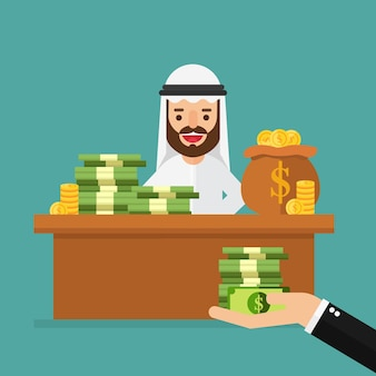 De rijke arabische zakenman