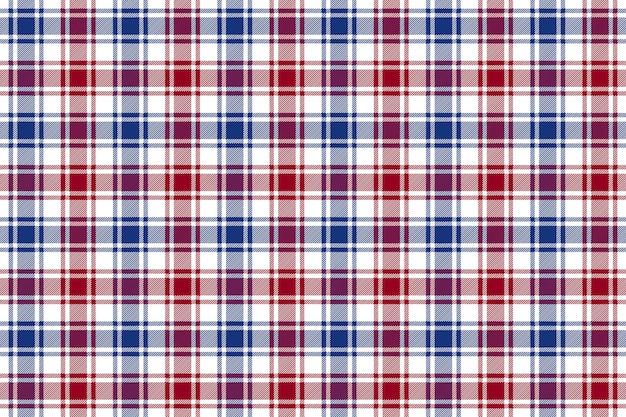 De rode blauwe witte achtergrond van het de textuur naadloze patroon van de controleplaid