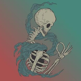 De schedel.