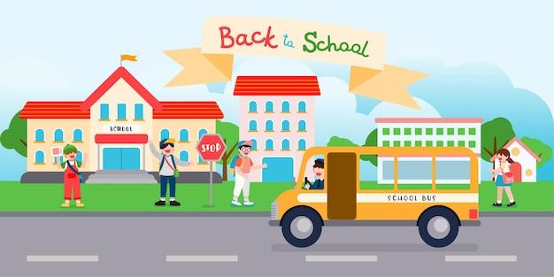De school heeft het semester geopend. studenten zijn teruggekeerd om vakken te studeren
