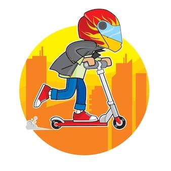 De scooterjongen