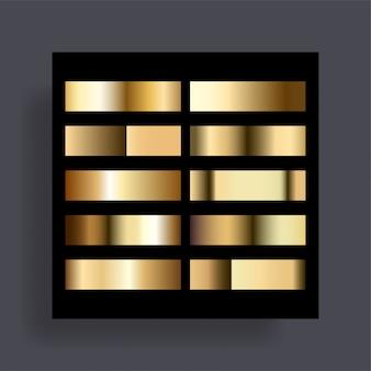 De set van gouden verlopen