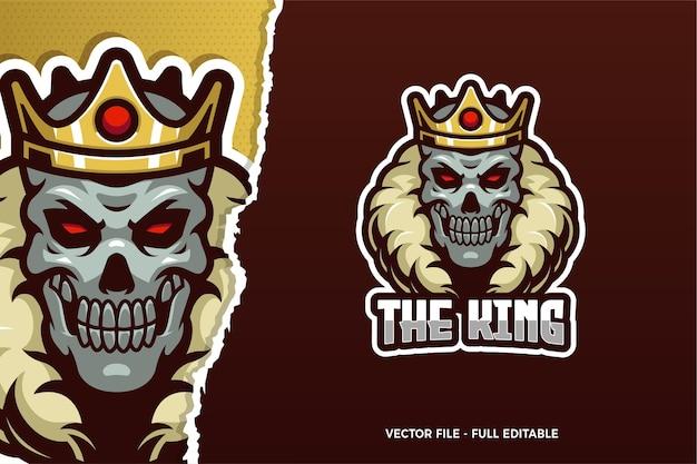 De skull king e-sport logo sjabloon