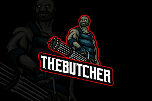 De slager - esport-logo sjabloon