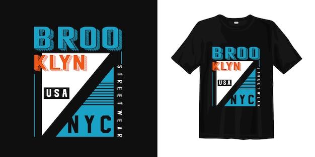 De slijtage van de de stadsstraat van brooklyn new york