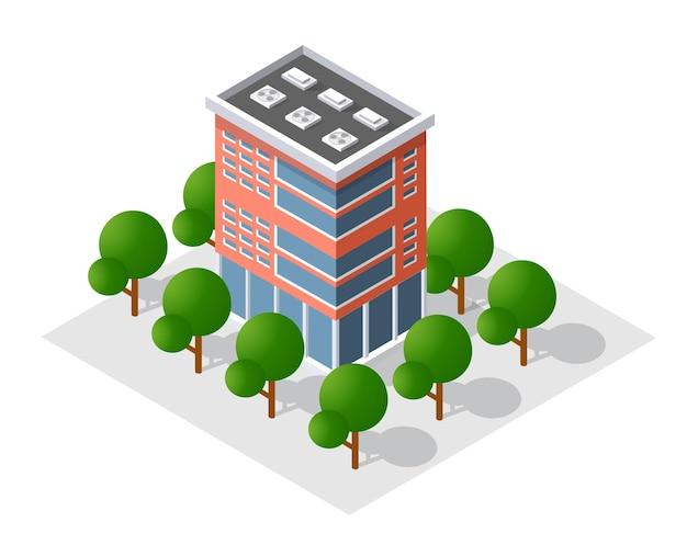 De slimme huisarchitectuur van het gebouw is een idee van technologiezaken