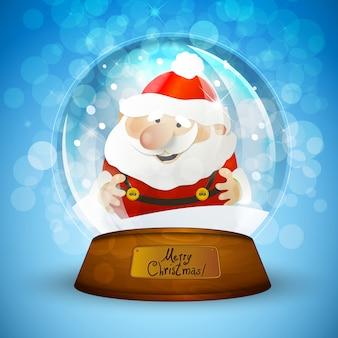De sneeuwbol van kerstmis met de kerstman