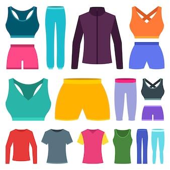 De sportkleding van de vrouw illustratie op witte achtergrond