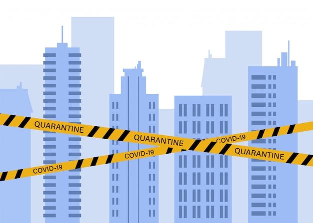 De stad is in quarantaine geplaatst.