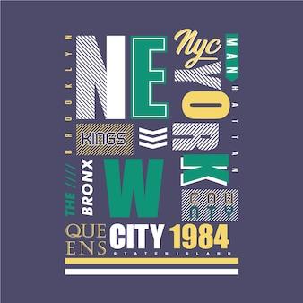 De steden graphiskleding van new york
