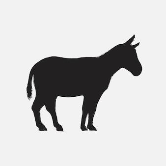 De stijl van de illustratietekening van ezel