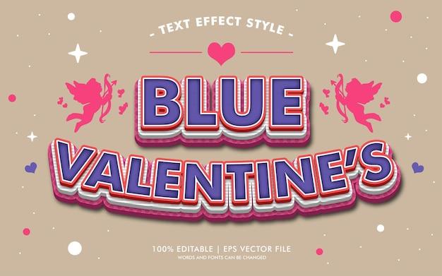 De stijl van de teksteffecten van blauwe valentijn