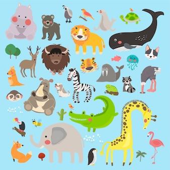 De stijlreeks van de illustratietekening van het wild