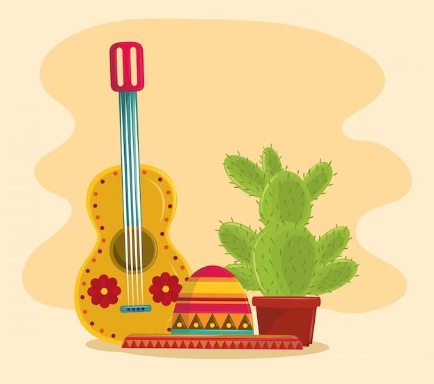 De succulente pot van mexico en van de cactus