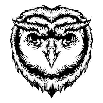 De tattoo-ideeën van animatie het hoofd van de uil