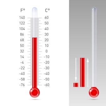 De thermometer isoleert op wit