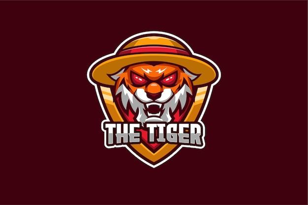 De tiger e-sport-logo sjabloon