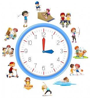 De tijd heeft betrekking op de activiteit