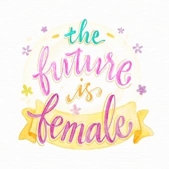 De toekomst is vrouwelijke letters
