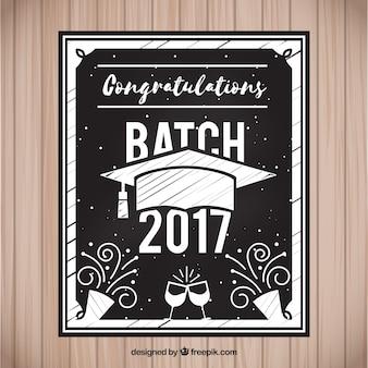De uitnodiging van de graduatiepartij