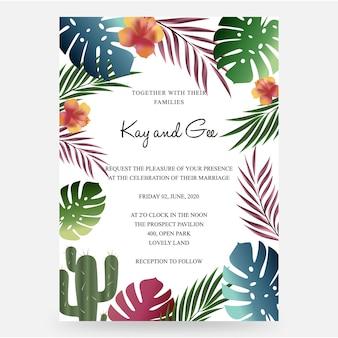 De uitnodiging van het huwelijk, bloemen nodigt dank u, rsvp modern kaartontwerp uit