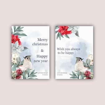 De uitnodigingskaart van het de winter bloemen bloeiende elegante huwelijk voor mooie decoratiewijnoogst