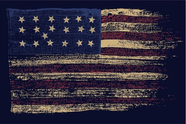 De uitstekende vlag van de vs