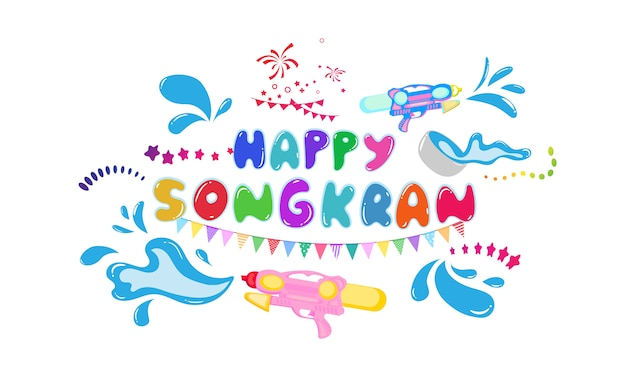 De vakantieachtergrond van thailand van de songkranfestivalviering