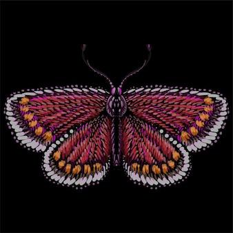 De vector-logo vlinder voor tatoeage of t-shirt of uitloper
