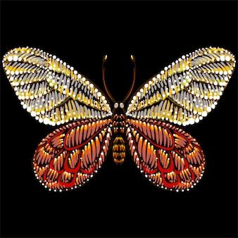 De vector-logo vlinder voor tattoo of t-shirt of uitloper