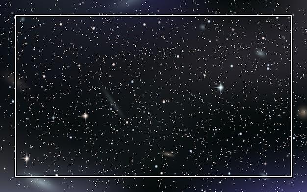 De vectorachtergrond van de nachthemel met sterren