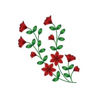 De vectorillustratie van het achtergrond bloemenbloemontwerp