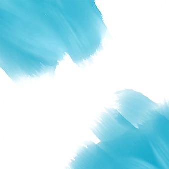 De verfeffectachtergrond van de hemel blauwe waterverf