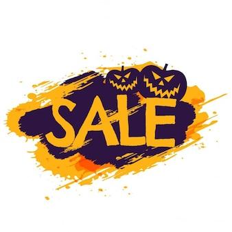 De verkoop van halloween banner met pompoenen