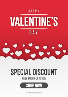 De verkoopachtergrond van de valentijnskaart met harten