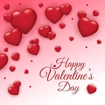 De verkoopachtergrond van de valentijnskaartendag met hart.
