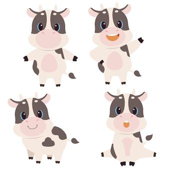 De verzameling schattige koe