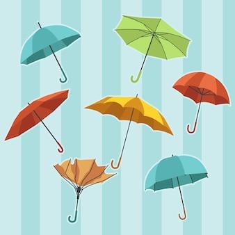 De verzameling van de paraplu set