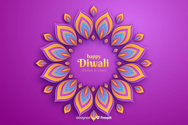 De vieringsachtergrond van diwali feestelijke ornamenten