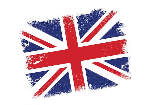 De vlagachtergrond van grunge union jack