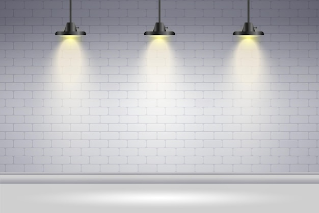 De vlek steekt witte bakstenen muur aan als achtergrond