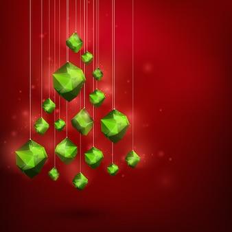 De vrolijke abstracte illustratie van het kerstmis gelukkige nieuwjaar
