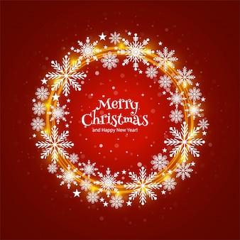 De vrolijke decoratieve achtergrond van kerstkaart mooie cirkelvormige snoflakes