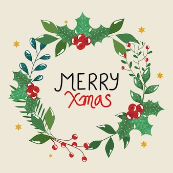 De vrolijke kerstmisvlieger met kroon doorbladert decoratief