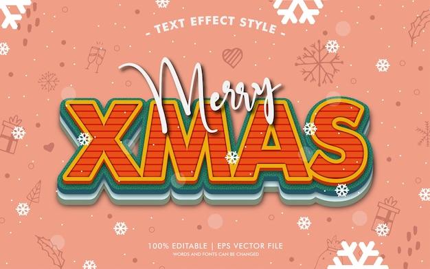 De vrolijke stijl van de teksteffecten van kerstmis