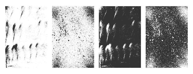 De vuile texturen van grunge abstracte frames geplaatst achtergrond