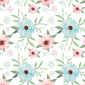 De waterverfachtergrond van het pastelkleur bloemen naadloze patroon